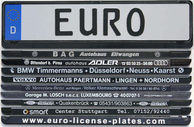 Custom German License Plate Volvo Audi Bmw Porsche