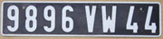 french license plate